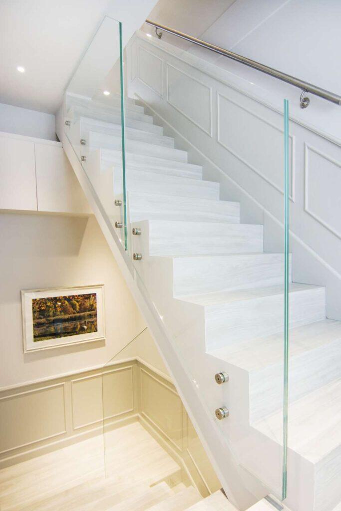 le scale per giungere all'attico sottotetto